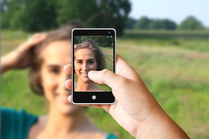Foto-App auf Smartphone